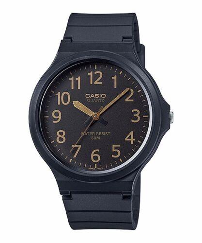 1 of 1 - MW-240-1B2 Black Casio Watches Unisex Water Resist Analog Resin Band Brand-New