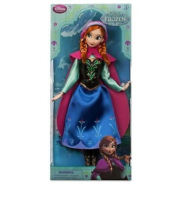 Disney Store FROZEN Princess Anna 2015 New Style Poseable Doll Toy Figure 12""