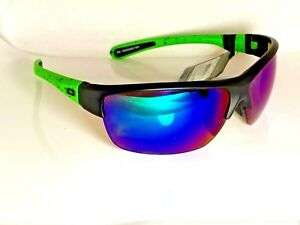 1c84ddfd3132 No Fear Impact Resistant Sunglasses Black Neon Green w Blue Ice RV ...