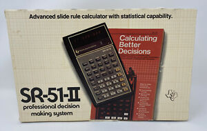 Complete-Vintage-1977-Texas-Instruments-SR-51-II-Handheld-Electronic-Calculator