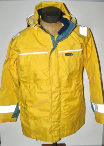 Patagonia Men's Yellow Heavy Duty Hooded Rain Coat