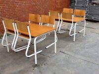 Kantinemøbler 2 borde & 8 stole, Kantine møbler 2
