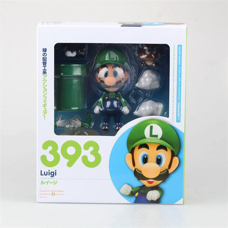 Nendgoldid 393 Luigi Super Mario Anime Action Figure Good Smile Action Figure KO