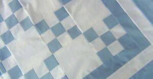 "Patchwork Quilt Top~Irish Chain /""Blue Swirl #2/""~PIECED~Baby,Wall,Lap 40/""X40/"" USA"