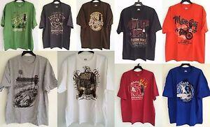 NWT-Hanes-Beefy-T-Men-039-s-Graphic-Tee-T-shirt-Size-2X-3X-White-Green-Orange-Blue