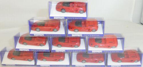 10 Stück Ferrari Mythos rot IMU EUROMODELL 1:87 H0 OVP Schleudersternfelge  å *