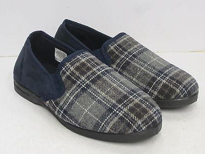 Fast Deliver Hombre Zapatilla Cerrada Sin Cordones X2r013 Cuadros Marino Men's Shoes