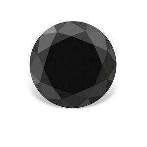 0-25-1-4-Carat-4-00-MM-Natural-Real-Jet-Black-AAA-Quality-Round-Loose-Diamond