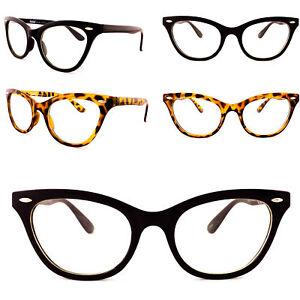 bd78e04c30 Womens Clear Lens Cat Eye Glasses 1980 s Vintage Eyeglasses Tortoise ...