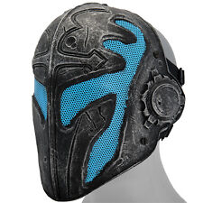 Templar Mask Airsoft Paintball Assassin Creed Knight Helmet Metal Wire Mesh Blue