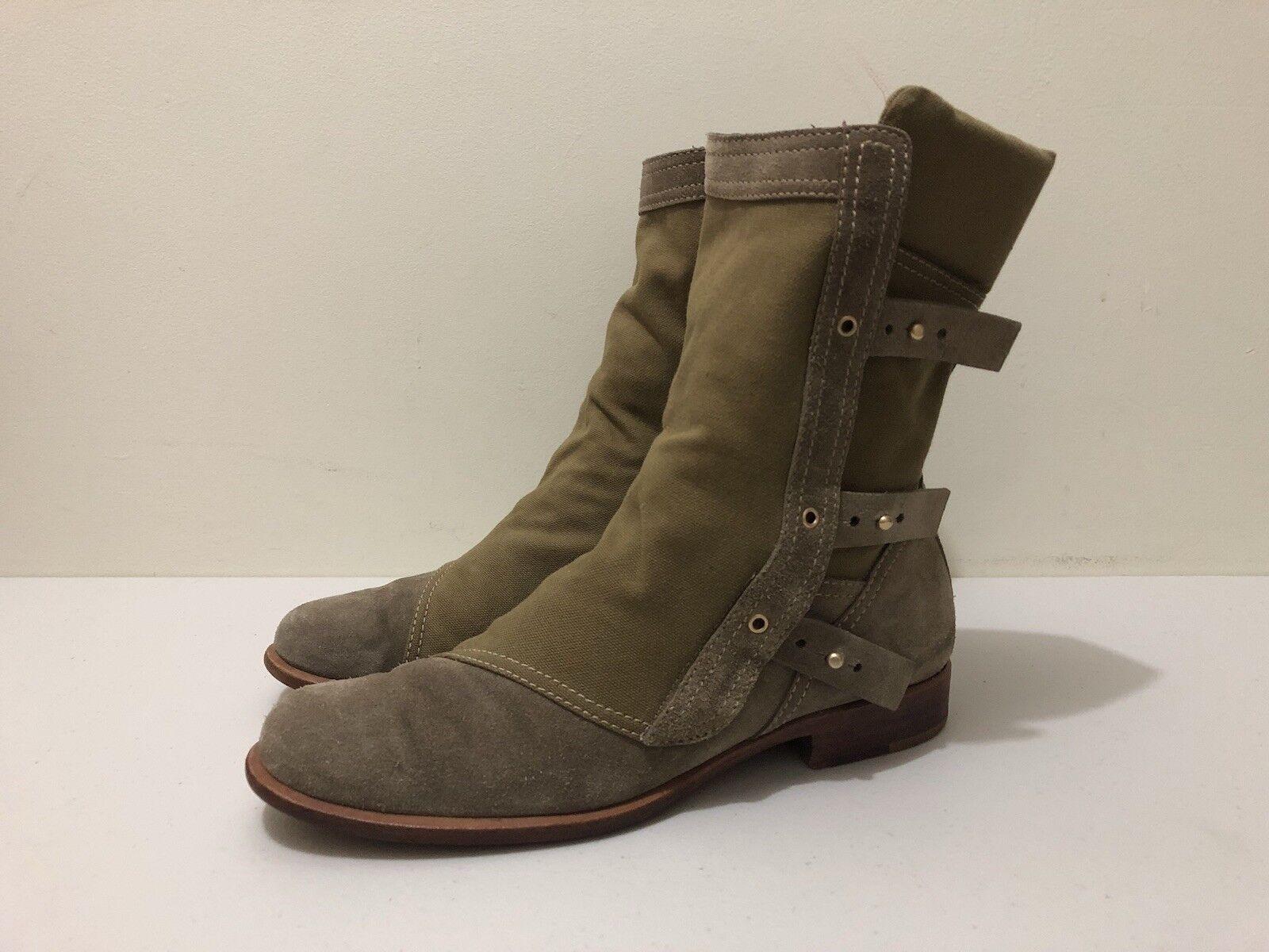 Guiseppe Guiseppe Guiseppe Zanotti para Thakoon botas para mujer estilo militar de  41  de Cuero de Lona  promociones de equipo