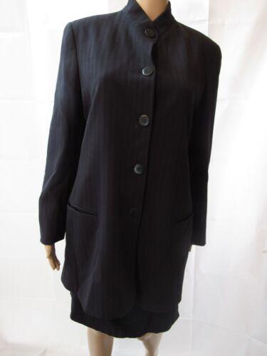 DONNA KARAN Black Label Navy Pinstripe Skirt Suit