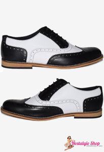 Steelground Budapester Schuhe, schwarz weiß