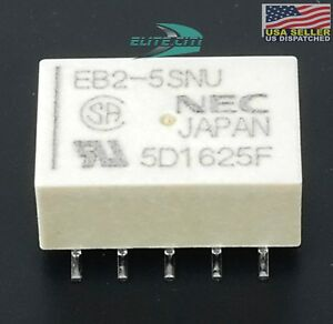 nec tokin low signal relays 5v latching relay 2 form c dpdt eb2 5sn qty 2 ebay. Black Bedroom Furniture Sets. Home Design Ideas