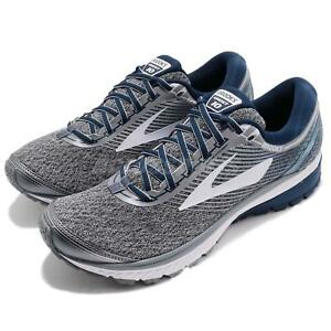 Brooks-Ghost-10-Neutral-Silver-Blue-White-Men-Running-Shoes-Sneakers-110257-1D