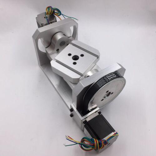 Mini Rotary Table Axis 5th Axis 4th Axis 6:1 8:1 CNC Dividing Head 100mmx125mm
