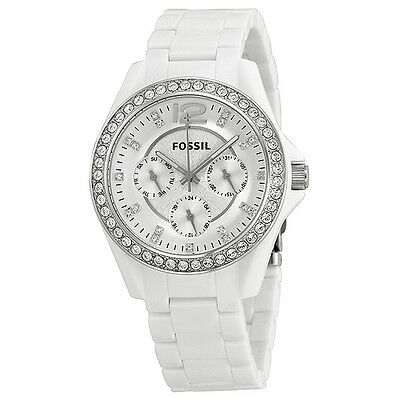Fossil Riley Multi-Function White Dial White Resin Ladies Watch ES3252