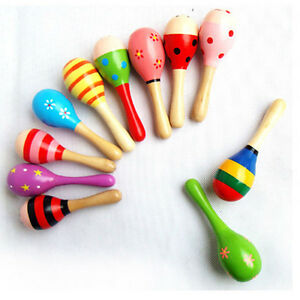 Infant-Baby-Kid-Wooden-Ball-Toy-Rattle-Sand-Hammer-Percussion-Musical-Instrument