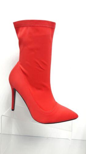 Venta Mujeres Damas Calcetín Estilo Botas Zapatos De Tacones Altos Terciopelo Suave Al Tacto Stiletto