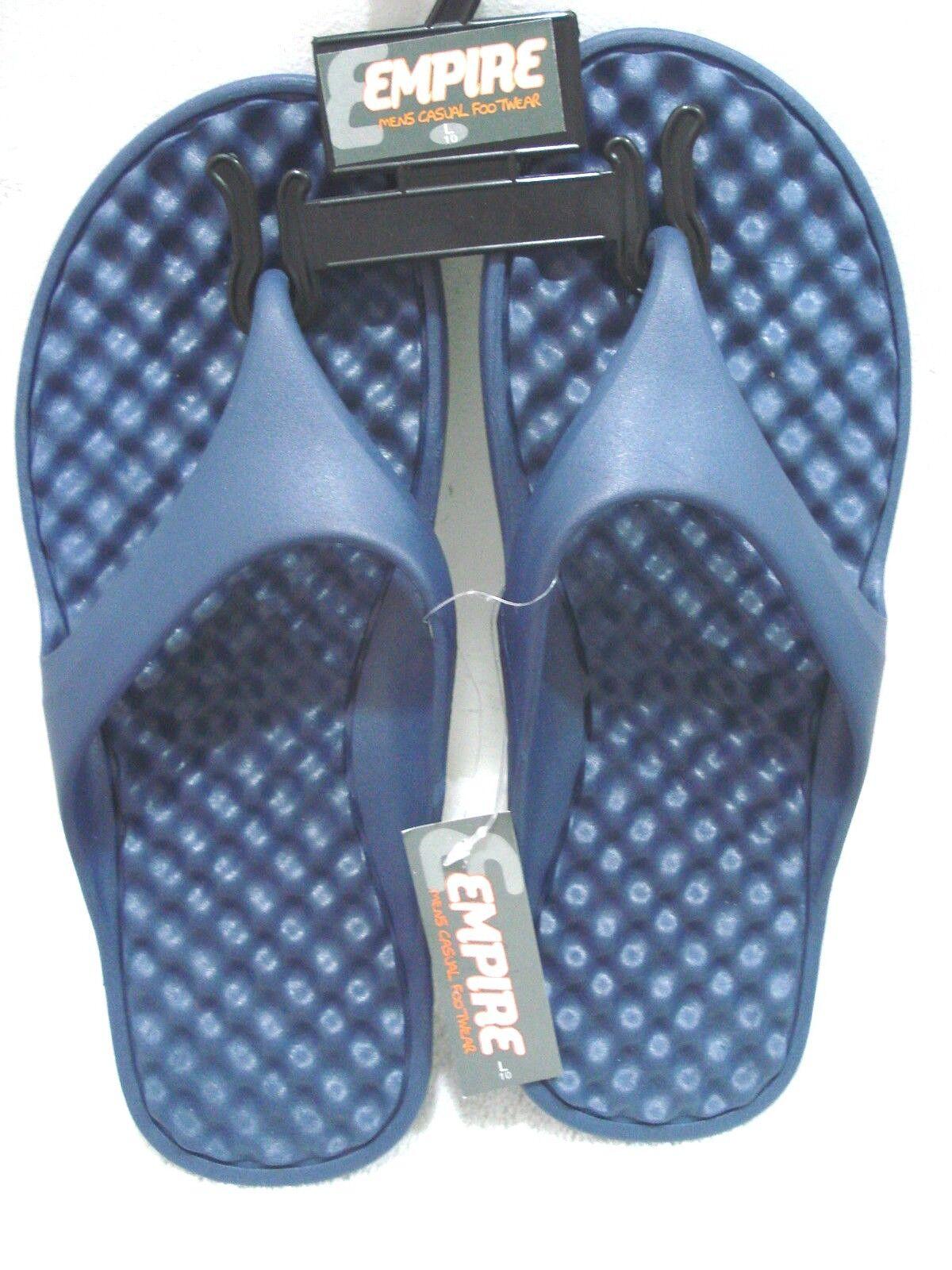 EMPIRE Men's Casual Flip Flops Blue Size Large (10)