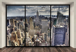 Image Is Loading WALLPAPER MURAL PHOTO New York Skyline WALL DECOR