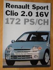 RENAULT Clio Sport 2.0 16V 172 rare 1999 Swiss Mkt brochure