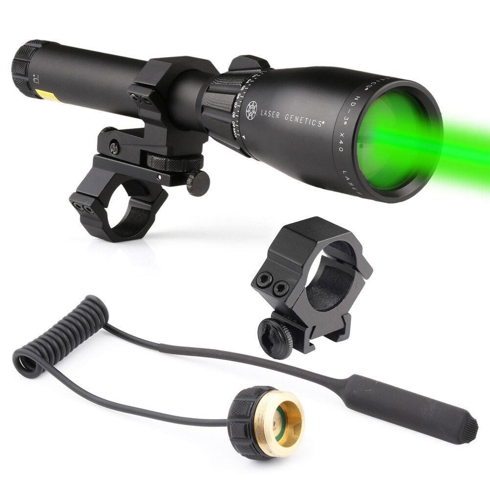 ND3x40 Long Distance Green Laser Scope Designator Pointer with Rail Mount