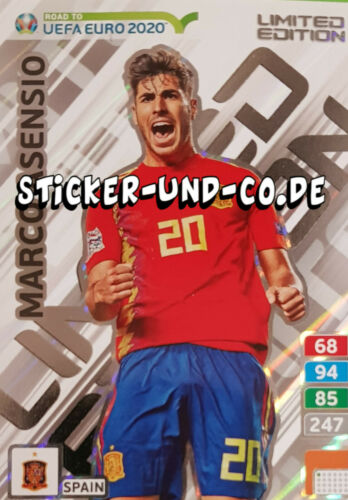 PANINI ROAD TO EURO 2020 ADRENALYN XL Limited Edition cards au choix