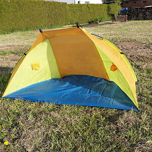 Strandmuschel-Zelt-Sonnensegel-Sonnenschutz-Strandzelt-versch-Farben