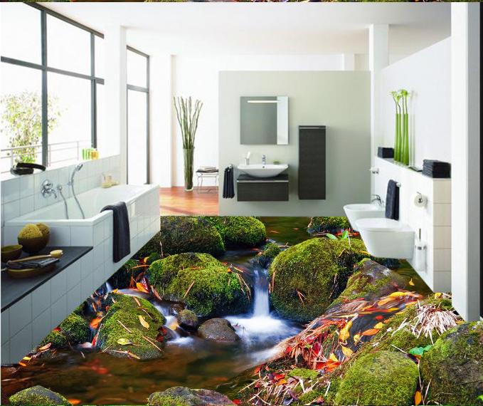 3D Stream Nature 54 Floor WallPaper Murals Wall Print 5D AJ WALLPAPER AU Lemon