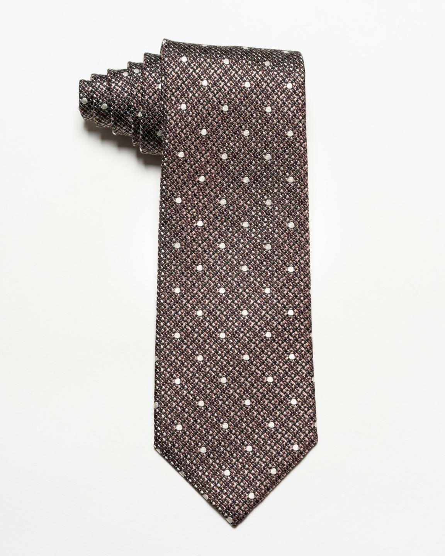 Tom Ford Nwt Kupfer Braune Silber Schwarz Gewebt Gepunktet 100% Seide Tie 8.6cm