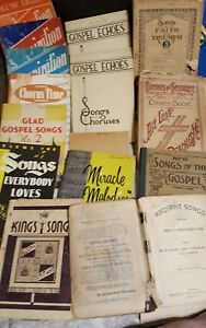 Details about LOT OF 15 ANTIQUE & VINTAGE SONG BOOKS - SHEET MUSIC - SUNDAY  SCHOOL LIBRARY