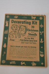 Stencil Decorating Kit Vintage Christmas Window Art Spray Snow Die Cut