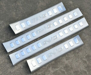 4x Stainless Steel Inside Door Sill Scuff Plate Trim For