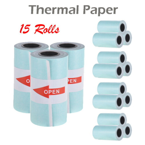 57x30mm Self-adhesive Thermal Paper Sticker Roll Printer 15 Rolls For PAPERANG