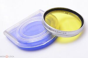 VOIGTLANDER-47MM-YELLOW-2-G2-302-47-FILTER-PROMINENT-ULTRON-OR-NOKTON-LENSES