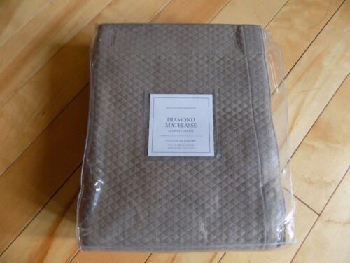 """Restoration Hardware Diamant Matelassé Prairie Coton Rideau de douche 72/""""X72/"""""""