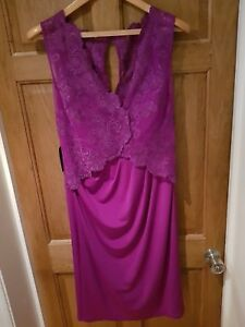 Purple Size Ladies Dress 10 Evening Light Alexon HxqTXI