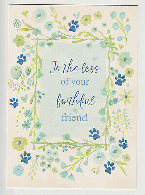 Pet Sympathy Card Loss Of Dog Or Cat