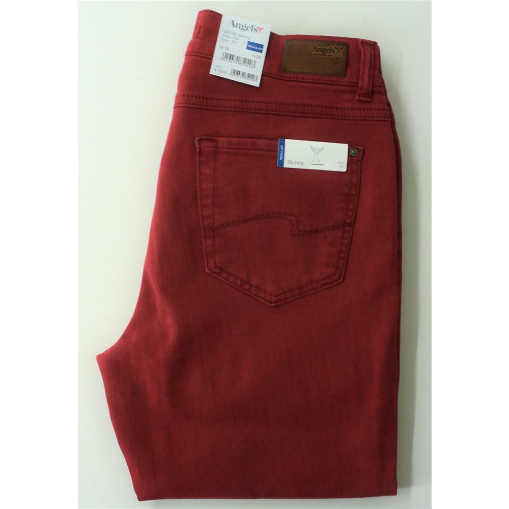 Angels Skinny modische Slim Fit Jeans in tollem Rubin-red