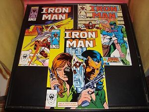 Iron-Man-201-202-203-Marvel-Comic-Book-Lot-Of-3-1985-86-VF-Condition-8-5-9-0