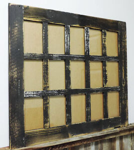 Image Is Loading Rustic Barn Wood 15 Pane Picture Frame Collage