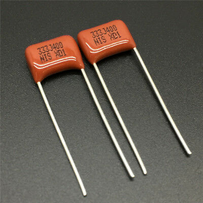 100pcs 0.15uF 154J 630V 5/% CBB Metallized Film Capacitor P=10MM