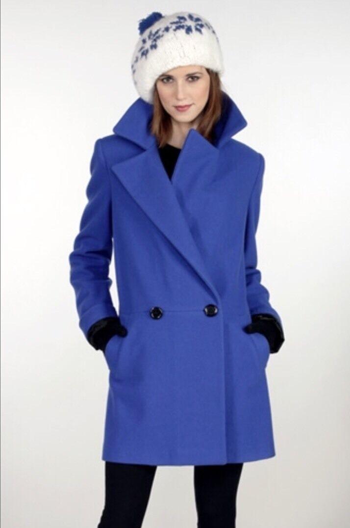 STEVE by SEARLE Cobalt bluee Wool Blend Boyfriend COAT MSRP , Size 14