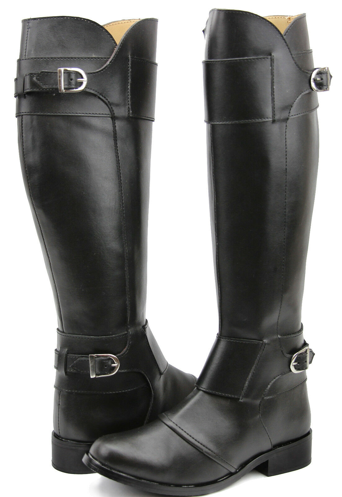 FAMMZ Women Ladies Desire Fashion Stylish Motorcycle Riding Tall Knee High Boots