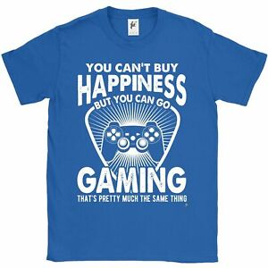 You-Can-039-t-Buy-Happiness-But-You-Can-Go-Gaming-Mens-T-Shirt