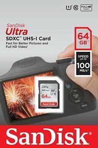 SanDisk-Ultra-64GB-SDXC-UHS-I-Tarjeta-SD-velocidad-hasta-100MB-s-Nuevo-Original