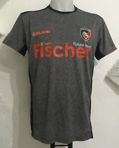 52cac3e2 LEICESTER TIGERS 2017/18 GREY MARL RINGER TEE BY KUKRI SIZE MEN'S ...