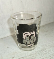Veiled Woman Lady w/ Googly Roving Eyes Shot Glass One Is My Limit