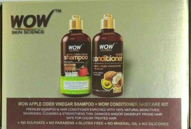 WOW Apple Cider Vinegar Hydrating Shampoo and Conditioner Kit (2 x 16.9 Fl Oz)